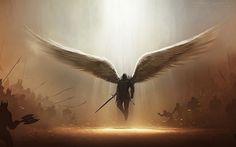 Papel de Parede - Anjo Guerreiro