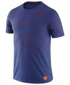 Nike Men's Chicago Cubs Coop Premium Text T-Shirt - Blue 3XL