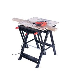 Workmate router table fitted with router insert plate a pivoting black decker bdst11000 workmate workbench greentooth Images