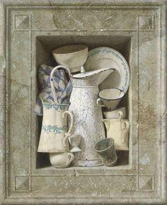 """Kenne Gregoire - 'DE NIS""""- acryl op paneel - 70 x 55 cm  verkocht de nis"""