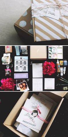 Make bridesmaid and groomsmen presents Gifts For Wedding Party, Bridal Gifts, Diy Wedding, Wedding Favors, Dream Wedding, Wedding Decorations, Wedding Invitations, Bridesmaid Boxes, Bridesmaids And Groomsmen