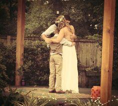 Back yard wedding Atdweddingandeventflowers.com