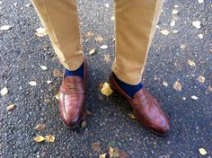 penny loafers perfect brown socks