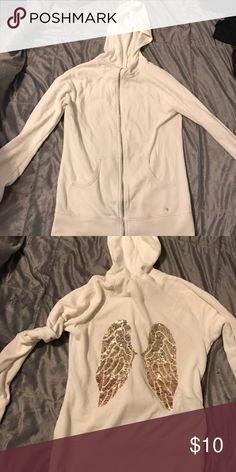 VS sweatshirt Great condition! Some stains around bottom, can be taken out:) Victoria's Secret Jackets & Coats