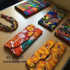 Statement Necklaces and African Print Clutches by L'AVIYE African Inspired Fashion, African Print Fashion, African Fashion Dresses, African Accessories, African Jewelry, African Textiles, African Fabric, African Crafts, African Design