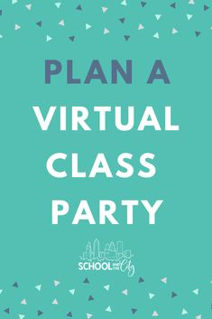 "Create a ""party in a bag"" for a virtual end of year class celebration with your elementary school students. End Of School Year, End Of Year, School Days, School Stuff, Virtual Class, Teacher Hacks, Teacher Stuff, School Study Tips, School Parties"
