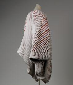 Seashell Coat Issey Miyake (Japanese) ca. 1985 cotton, nylon, linen