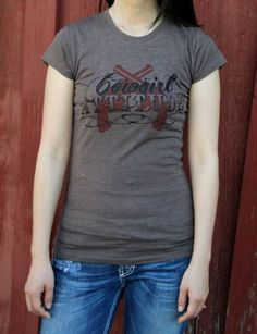 I've got a cowgirl attitude Tee Shirt  I've Got A Cowgirl Attitude.   