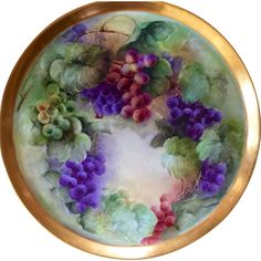 16' Magnificent Limoges Hand Painted Charger Plaque Platter Tray, Artist Signed 'E.Williams',Ca 1898