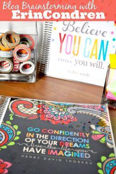 Blog Brainstorming with an Erin Condren Notebook - Get $10 off by clicking this link: https://www.erincondren.com/referral/invite/kyriejoplin1219