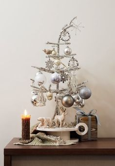 silver with woodland touches