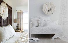 Ideas para decorar paredes con rosetones de plumas  |  DECOFILIA.com