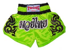 Twins Lime Muay Thai shorts Black Tattoo : TWS-847 I have too much pink