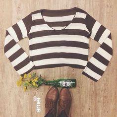 Beba amor até tudo virar flor! ❤️ #lojaamei #fio #listras #amor #inverno