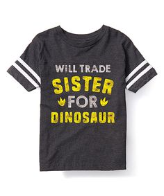 Look at this Heather Charcoal 'Trade Sister' Football Tee - Toddler & Kids on #zulily today!