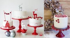 Those stands though! Christmas Deserts, Christmas Cake Decorations, Holiday Cakes, Christmas Candy, Christmas Birthday, Reindeer Christmas, Christmas Ideas, Xmas, Geek Magazine
