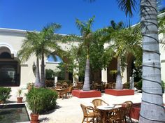 Courtyard, the Valentin Imperial Maya, 20 minutes south of Cancun.