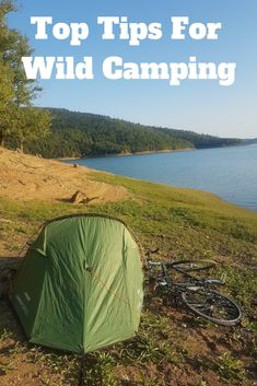 My top tips for wild camping. Enjoy the great outdoors more and travel cheaper by wild camping on your next bike tour. Here's how. #cycling #biketouring #wildcamping  #camping #outdoors #bicycle