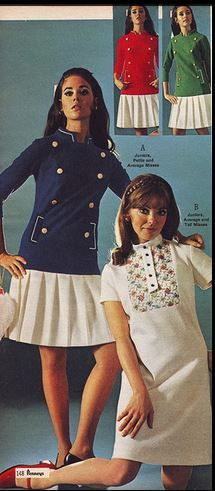 Colleen Corby 1960s. The nautical look. My Easter dress in '68 was a navy/white nautical with gold buttons.