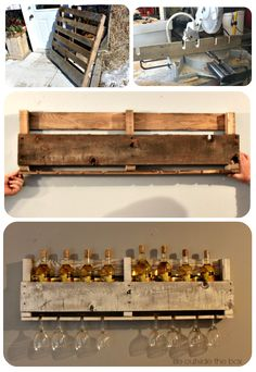 12 Amazing DIY Rustic Home Decor Ideas Pallet wood wine rack Pallet Furniture, Furniture Projects, Deco Furniture, Cute Diy Projects, Pallet Projects, Trendy Home, Do It Yourself Home, Rustic Interiors, Rustic Decor