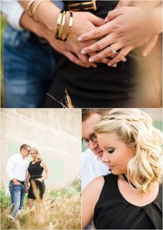 Fall engagement pictures. Love her gold bracelets! Click to view more!
