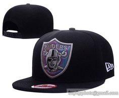 Oakland Raiders Reflective Logo Snapback Hats Black