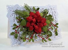 Classic Poinsettia and Holly by kittie747 - Cards and Paper Crafts at Splitcoaststampers