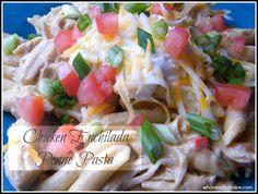 Chicken Enchilada Penne Pasta | Who Needs A Cape?  #enchilada #pasta #mexicanfood #easydinnerrecipe