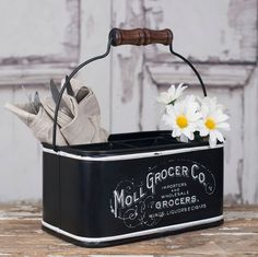 Moll Grocer Divided Caddy with Four Compartments - CustomVinylDecor.com