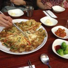 Photo of Hanabi - Lidcombe New South Wales, Australia. Seafood pancake and some side dishes