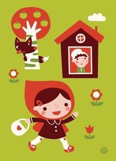 https://flic.kr/p/idgvts | Fairytale Poster - Little Red Riding Hood | POSTER 50 x 70 cm design by BORA © Deborah van de Leijgraaf