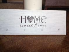 Home Sweet Home Key Holder by Caroline's Corner on Etsy, $10.00