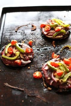 Simple Portobello Pizzas!