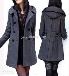 Women's Double-breasted Wool Coat from Yayubaoxiang,$61.32 | DHgate.com