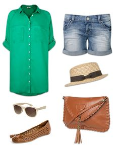 Not sure about the green shirt, but I love this weekend outfit.