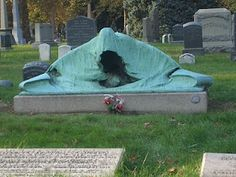"""The """"Angel of Death"""" marks the graves of Charles Schieren, the next-to-last mayor of Brooklyn, and his wife Mary Louise. The Schierens died from pneumonia within 24 hours of one another in 1915.    Considered one of the world's foremost cemeteries, Green-Wood Cemetery –located in Brooklyn, New York - was established in 1838."""