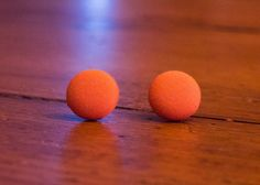 Small Orange Fabric Covered Button Earrings 5/8 by MightyMallory