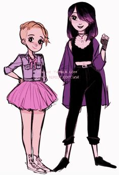 older rose and juleka! (late teens- young adults?)