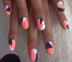 18 Striped DIY Nail Designs - Fun Spring nail art.
