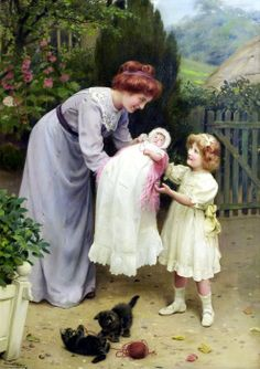 Arthur John Elsley (British, 1861-1952) -  Do be careful