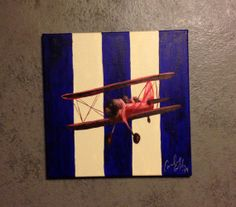 12x12 Airplane painting on canvas
