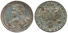 Russia - Catherine I, 1725-1727 1 rouble 1726 Moscow - Red mint. 29,68 g. Some minor verdigris. Bitkin 28. gVF  Dealer Myntkompaniet & AB Philea  Auction Starting Price: 5000.00 SEK (app. 544 EUR)