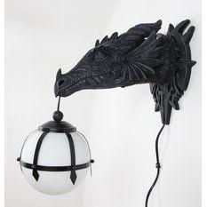 lampa nástěnná Poly Gothic Wall Dragon