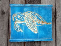 SEA TURTLE Wall Art VCARVED Reclaimed Wood by AmericanaSigns, $26.00