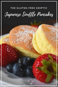 The Gluten-Free Skeptic: Fluffy Japanese Souffle Pancakes (Recipe) - Recipe: Gluten Free - Pancake Recipes Gluten Free Pancakes, Gluten Free Breakfasts, Gluten Free Desserts, Japanese Souffle Pancake Recipe, Japanese Pancake, Japanese Meals, Souffle Pancakes, Souffle Recipes, Sweet Sauce