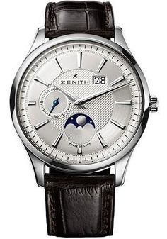 Zenith - Captain Moonphase Stainless Steel Watch 03.2140.691/02.C498