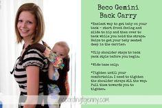 #babywearing Beco Gemini Back Carry
