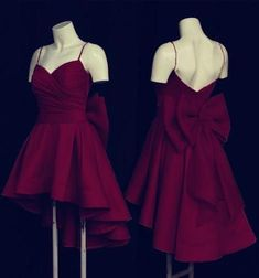 short burgundy prom dresses high low hem party gowns with bow back - Source by manuelaboresch - High Low Prom Dresses, Homecoming Dresses, Bridesmaid Dresses, Long Dresses, Summer Dresses, Formal Dresses, Wedding Dresses, Dress Prom, Casual Dresses