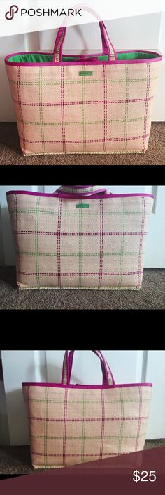 """Ralph Lauren tote Super cute Ralph Lauren straw tote. Green lining, great used condition. 14"""" long, 6"""" deep, 11"""" height with 14"""" straps. Ralph Lauren Bags Totes"""