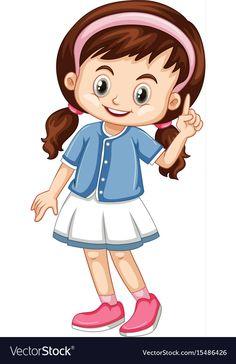 Little girl pointing finger up vector image on VectorStock Kids Cartoon Characters, Cartoon Books, Cartoon Pics, Cartoon Drawings, Cute Cartoon, Kindergarten Reading Activities, Preschool Education, Preschool Art, Art Drawings For Kids